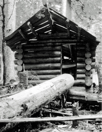 "Scotty Finlayson's ""Canuck"" cabin under construction, 1930 